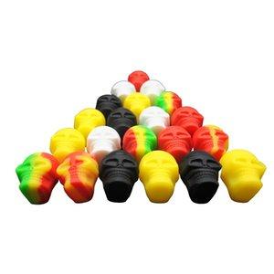 3 ML schädelform mini Antihaft-silikonbehälter Für Wachs Bho Öl Butan Verdampfer silikonbehälter Gläser lagerung beste weise für halten