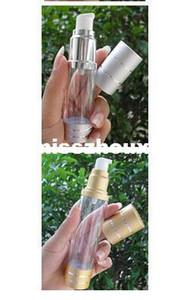 50ML ronda airless botella con PP tratamiento bomba Botella cosmética contenedor vacío envase de maquillaje Color Dorado
