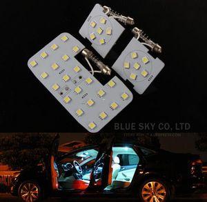 3 parça! Beyaz LED Oto Araba Okuma Iç Işık Paneli Dome Lamba KIA RIO K2 2006-2017 Için / Hyundai Solaris Accent