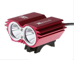 Solarstorm X2 5000Lm 2x CREE XM-L2 T6 LED anteriore bici bicicletta faro faro + pacco batteria + caricabatterie