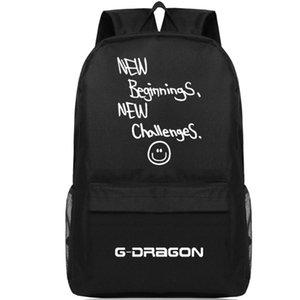 Nuovi inizi sfide zaino G Dragon Day pack Bigbang school bag Musica packsack Qualità zaino Sport schoolbag Outdoor daypack