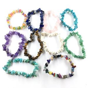 Peculiar Irrégulier Bracelet En Pierre Naturelle 30 Couleurs Rose Quart Vert Aventurine Rouge Agate Cristal Turquoise Bracelets Pour Femmes Hommes Cadeau