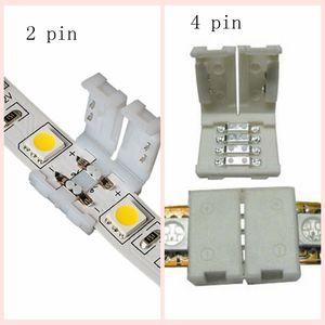 connecteurs de bande led pour 8mm 3528 10mm 5050 smd et 4pin DC RGB 5050 bandes LED n'allument pas de soudure