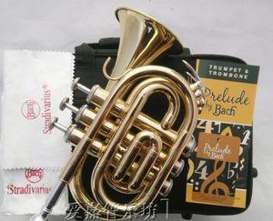 Профессиональное качество аутентичные Бах Палм-карман раструб музыкальный тон си-бемоль как BB латунь Рог Trompete Трубач Горн немой Пикколо
