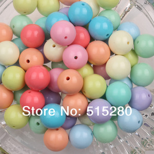 Wholesale-20mm Light Mixed Color Chunky Gumball  Acrylic Solid  Bubblegum for Necklace Jewelry DIY