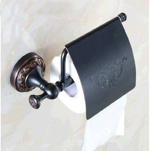 도매 및 소매 무료 배송 욕실 종이 홀더 화장실 종이 홀더 꽃 조각 석유 문질러 청동 조직 바 홀더