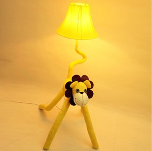 Modern children's room cartoon garden floor lamp, bedroom living room lamp bedside lamp, a small table lamp lion cloth