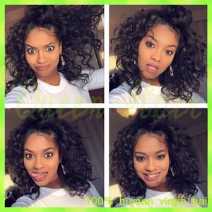 parrucche brasiliane non trattate dei capelli umani della parrucca dei capelli per le donne nere che merlettano la parte anteriore o le parrucche piene del merletto dei capelli umani mostrano il rpg