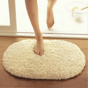 Hot Bathroom Carpets Absorbent Soft Memory Foam Doormat Floor Rugs 40*60cm Oval Non-slip Bath Mats