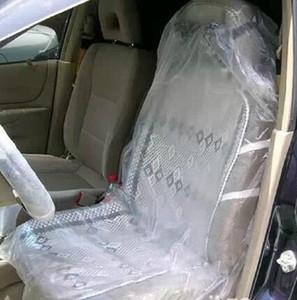 Tek kullanımlık araba koltuğu kapakları şeffaf plastik Evrensel su geçirmez anti-toz onarım için pet vb