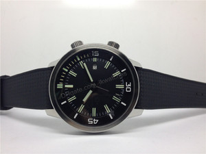 Top quality men's sport watch mechanical automatic watches rubber strap wristwatch black dial 039