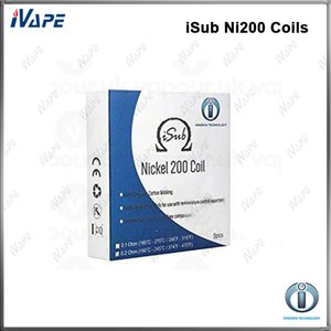 100% de bobines originales d'Innokin iTaste iSub Ni200 0.1ohm 0.2ohm de bobines iSub Clapton BVC 0.5ohm pour l'atomiseur iSub S / G