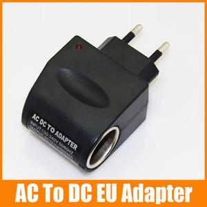 Adaptador de corriente alterna al adaptador de enchufe de la UE para el adaptador de corriente continua del coche para MP3 MP4 GPS convertidor 100pcs / up
