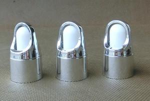 Vape cesta tapa gotero de color plata y oro con gotero de goma blanca tapa de tapa de aluminio cráneo / botella de gotero de vidrio cuadrado