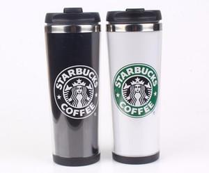 Starbucks Dupla Parede Caneca De Aço Inoxidável Copos Flexíveis / Xícara De Café / Caneca de Chá / Canecas de Viagem / Xícaras de Chá / Copos de vinho 4 cores