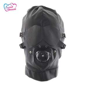 Sweet Dream Pu Leather Bondage Máscaras / Capuchas con boca Gag Blindfold Adultos Juegos Sexuales Juguetes Sexuales Para Parejas Dw -440
