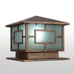 Wholesale-Japanese Style Royal Wall Pillar Lamp Outdoor Garden Lighting Yard Aisle Aluminum Alloy Light Home Outdoor Decor E27
