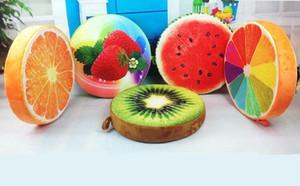 Tutta la stagione Creative 3D Cute Pillow Fruit Stump Round Cuscino del Sedile PP Cotone Sedia da ufficio casa auto Pad Throw Pillow Cojines Almofada
