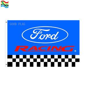 Ford racing flags banner Tamanho 3x5FT 90 * 150 cm com ilhó de metal, Bandeira Ao Ar Livre