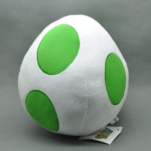"Hot New 7.5"" Presentes 19CM Super Mario Bros Yoshi Egg Plush Doll Anime Collectible bonecas de pelúcia Partido brinquedos macios"