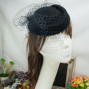 Hot Sell 2019 Distinctive Flower Birdcage Faccia Velo da sposa Copricapo cappelli da festa