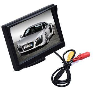 HD 800 * 480 Auto TFT LCD Monitor da 5 pollici Auto monitor schermo elettronico 2ch Video con telecamere per auto retrovisore attrezzature