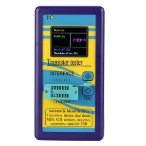 Freeshipping Transistor Tester 128 * 160 TFT Display a Colori diodo Tiristore Resistenza di Capacità Induttanza MOSFET ESR LCR Meter