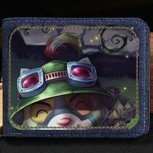 Teemo wallet League of Legends quick purse Game lol short cash note case Money notecase Leather burse bag Card holders