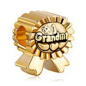 Плакировка золота 216 фабрик сразу продавая нет.1 бабушка европейский шарм бисер в серебристый цвет для pandora diy браслет ювелирных изделий