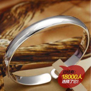 Mil pulsera de plata fina S999 modelos femeninos de plata brazalete de joyería del cuerpo ligero abriendo el regalo del Día de San Valentín para enviar su gi
