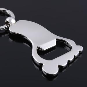 Kreatives Design Personalisierte Fuß Flaschenöffner Keychain Schlüsselanhänger Ring Schlüsselanhänger Keyfob Baby Shower favors kostenloser versand