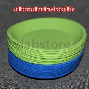 Venda Por Atacado nova rodada e forma quadrada recipiente de prato de silicone de grau alimentício, silicone prato profundo recipiente para alimentos / frutas / cera