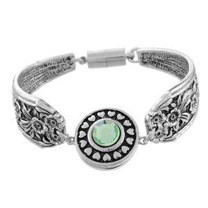 Plata antigua Noosa Chunks pulseras y brazaletes intercambiables Snap Charm pulsera diy para hombres y mujeres N95 10pcs / lot