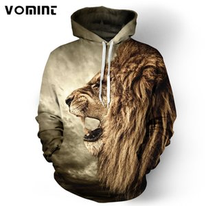 Toptan-Vomint 2017 erkek Hoodie Patlama Aslan 3D Dijital Baskı Moda Hoodies Kap Rüzgarlık Ceket 3d Tişörtü