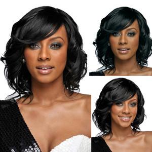 Европейский и Соединенные Штаты Америки женщины короткие природные волнистые волосы парики черный синтетический косплей парики Роуз чистой термостойкие вьющиеся пушистые парик шапки