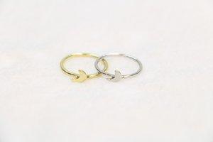 Le donne uomini mezzaluna anello tallone in lega di zinco bague sprecato anello donne anello tesoro del Midi festival migliore regalo