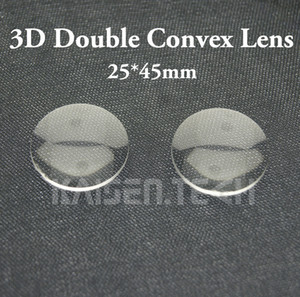 100pcs lot New High quality Acrylic 25mm Diameter 45mm focal Double-Convex Lens for Google Cardboard lens 3D VR Glasses lens DIY wholesale