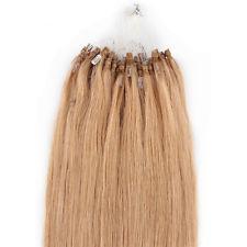 "wholesale remy Indian Hair 5A 16""-24"" 1g  s 100g set #27 dark blonde Loop Micro Hair Extension,100% Human Hair dhl free"