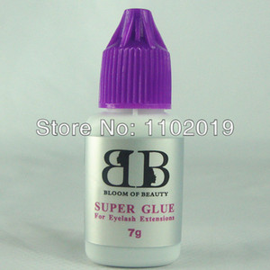 Atacado-frete grátis alta qualidade Coreia extensões de cílios cola maquiagem cílios cola super cola 7g / bottle