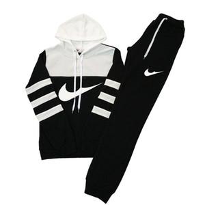 Frauen Casual Sport Kapuzen Sweatshirts + Hosen, Groß-und Einzelhandel Kleidung weibliche Läufer, Hit Farbe Anzug Frau Sweatshirts Trainingsanzug