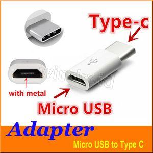 Micro USB vers USB 2.0 Connecteur adaptateur de données USB de type C pour Note7 nouveau MacBook ChromeBook Pixel Nexus 5X 6P Nexus 6P Nokia N1 Livraison gratuite