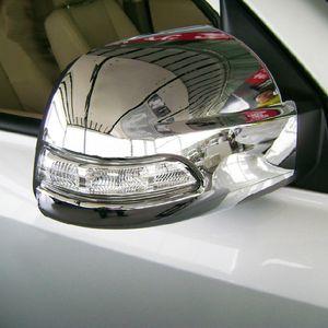 2009-2013 년 동안 2pcs Hyundai Tucson 뒤집기 거울 포탄 Rearview mirror housing 크롬 뒤 거울 덮개