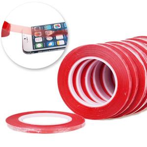 2mm 3mm 5mm * 25 m 3 m rosso nastro biadesivo per cellulare touch screen / LCD / display in vetro spedizione gratuita