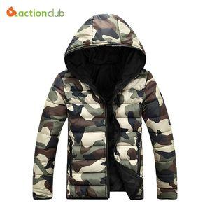 Queda-2016 Nova Moda InvernoAutumn Jacket Men Jaqueta de Camuflagem Quente Homens Casaco Parka Jaquetas Casuais Top Quality Casacos Para Baixo