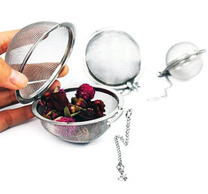 New 304 Stainless Steel Sphere Locking Spice Tea Ball Strainer Mesh Infuser tea strainer Filter infusor DHLfree