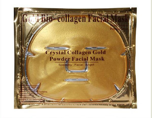 Gold Bio-Collagen Facial Mask Face Mask Crystal Gold Powder Collagen Facial Mask Moisturizing Anti-aging free shipping