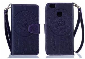 Для Huawei П9 облегченная чехол флип роскошные тисненая кожа ловец снов Павлин для Huawei П9 Lite флип чехол