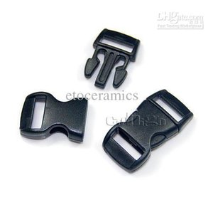 """Оптовая черный 3/8""""(10 мм) пластиковые пряжки контурные изогнутые для ParaCord браслет лямки lots10000"""