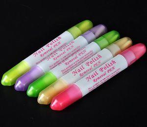 Wholesale 5pcs Lot Nail Art Polish Remove Pen Polish Corrector Erase Remover Clean Manicure Refillable Remover Pen On Sales