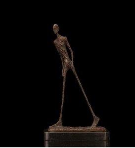Art Crafts Copper ATLI BRONZES 현대 추상 미술 청동 조각 산책 스켈레톤 동상 입상 가치있는 컬렉션